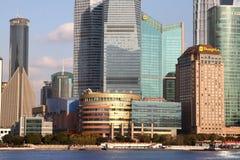 Arranha-céus de Shanghai Lujiazui CBD Imagens de Stock Royalty Free