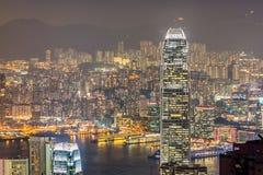 Arranha-céus do centro das finanças internacionais em Hong Kong Fotografia de Stock