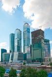 Arranha-céus do centro de negócios de Moscovo fotos de stock
