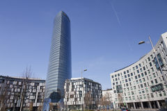 Arranha-céus do escritório em Bilbao da baixa, Spain Imagem de Stock Royalty Free