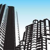 Arranha-céus do estilo de Grunge ilustração stock