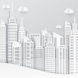 Arranha-céus do Livro Branco Construção de Achitectural na vista panorâmica Fotos de Stock