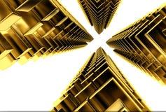 Arranha-céus do ouro Fotografia de Stock Royalty Free