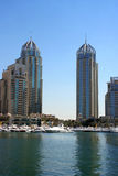 Arranha-céus do porto de Dubai Foto de Stock