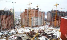 Arranha-céus dos edifícios em Kiev imagem de stock
