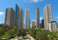 Arranha-céus em Chicago do centro, Illinois Fotografia de Stock Royalty Free