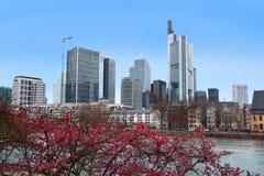 Arranha-céus em Francoforte - am - cano principal, Alemanha fotos de stock royalty free
