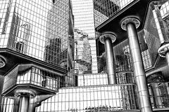 Arranha-céus em Hong Kong central fotografia de stock