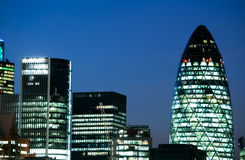 Arranha-céus em Londres Foto de Stock Royalty Free