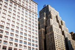 Arranha-céus em Manhattan, New York City Fotos de Stock Royalty Free