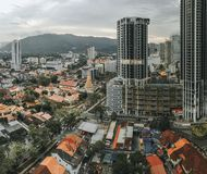 Arranha-céus em Penang, Malásia foto de stock royalty free