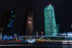 Arranha-céus em Potsdamer Platz Fotos de Stock Royalty Free