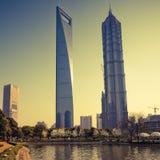 Arranha-céus em Shanghai China Fotos de Stock Royalty Free