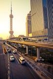 Arranha-céus em Shanghai China Fotografia de Stock Royalty Free
