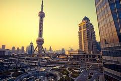 Arranha-céus em Shanghai China Imagens de Stock