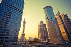 Arranha-céus em Shanghai China Fotografia de Stock