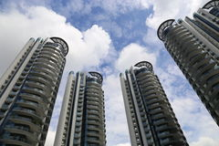 Arranha-céus em Singapore Foto de Stock Royalty Free