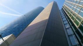 Arranha-céus famosos em Francoforte Foto de Stock Royalty Free