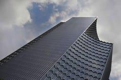 Arranha-céus financeiro urbano do negócio do prédio de escritórios do projeto moderno do distrito de Singapura Ásia da paisagem Fotos de Stock