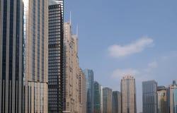 Arranha-céus financeiros do distrito de Lujiazui em Shanghai Fotografia de Stock Royalty Free