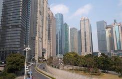 Arranha-céus financeiros do distrito de Lujiazui em Shanghai Foto de Stock Royalty Free