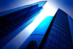 Arranha-céus futuristas Imagens de Stock