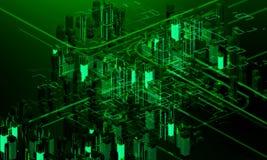 Arranha-céus futuristas Fotos de Stock
