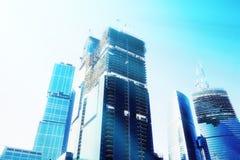 Arranha-céus futuristas Fotografia de Stock