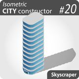 Arranha-céus isométrico moderno Fotos de Stock Royalty Free