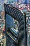 Arranha-céus Liujiashui Shanghai China do centro financeiro de mundo Fotografia de Stock Royalty Free