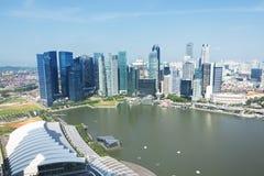 Arranha-céus moderno sob a construção Imagens de Stock Royalty Free