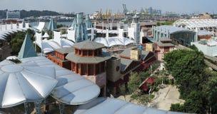 Arranha-céus moderno sob a construção Fotografia de Stock Royalty Free
