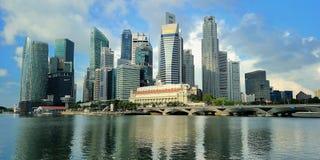 Arranha-céus moderno sob a construção Foto de Stock Royalty Free
