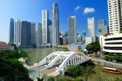 Arranha-céus moderno sob a construção Imagem de Stock Royalty Free