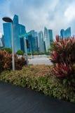 Arranha-céus modernos em Singapura fotos de stock royalty free