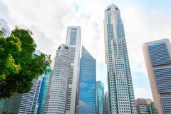 Arranha-céus modernos, núcleo do centro de Singapura fotos de stock