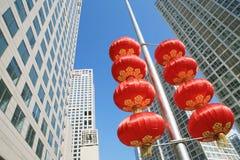 Arranha-céus modernos no ângulo largo Foto de Stock Royalty Free