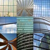 Arranha-céus modernos sobre céus azuis Foto de Stock Royalty Free
