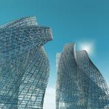 Arranha-céus na cidade ilustração do vetor