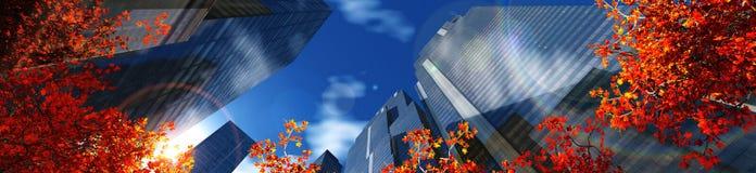 arranha-céus na cidade do outono Imagem de Stock Royalty Free