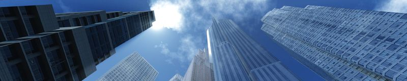 arranha-céus na cidade do outono Fotografia de Stock Royalty Free