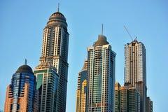 Arranha-céus no porto de Dubai Imagem de Stock