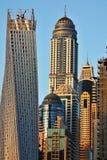 Arranha-céus no porto de Dubai Foto de Stock Royalty Free