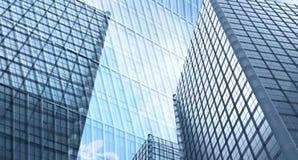 Arranha-céus no tom azul Imagem de Stock Royalty Free