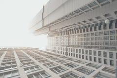 Arranha-céus residencial contemporâneo branco e cinzento, corpo dois de abrigo Foto de Stock