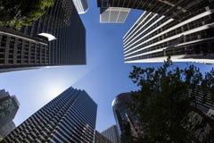 Arranha-céus San Francisco do centro no fim da tarde Foto de Stock