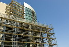 Arranha-céus sob a construção Fotografia de Stock Royalty Free