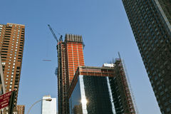 Arranha-céus sob a construção Imagem de Stock