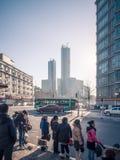 Arranha-céus sob a construção em Dalian Fotografia de Stock