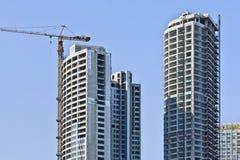 Arranha-céus sob a construção no centro da cidade do Pequim, China Foto de Stock Royalty Free